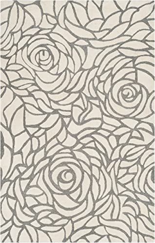 Safavieh Casablanca Collection Abstract Area Rug, 8 x 10 , Ivory Grey