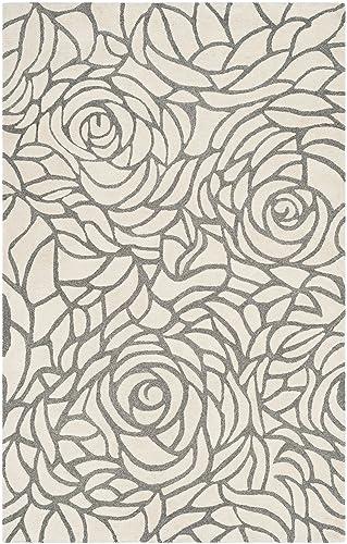 Safavieh Casablanca Collection Abstract Area Rug, 5 x 8 , Ivory Grey