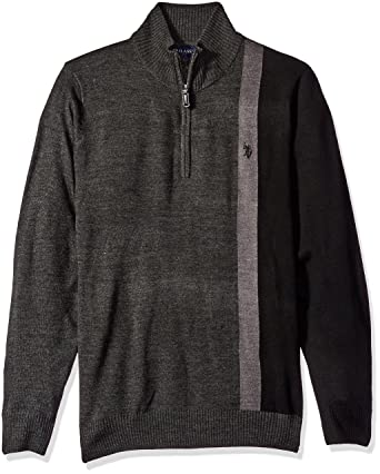 61f1bf770 U.S. Polo Assn. Men's Vertical Striped 1/4 Zip Sweater at Amazon Men's  Clothing store: