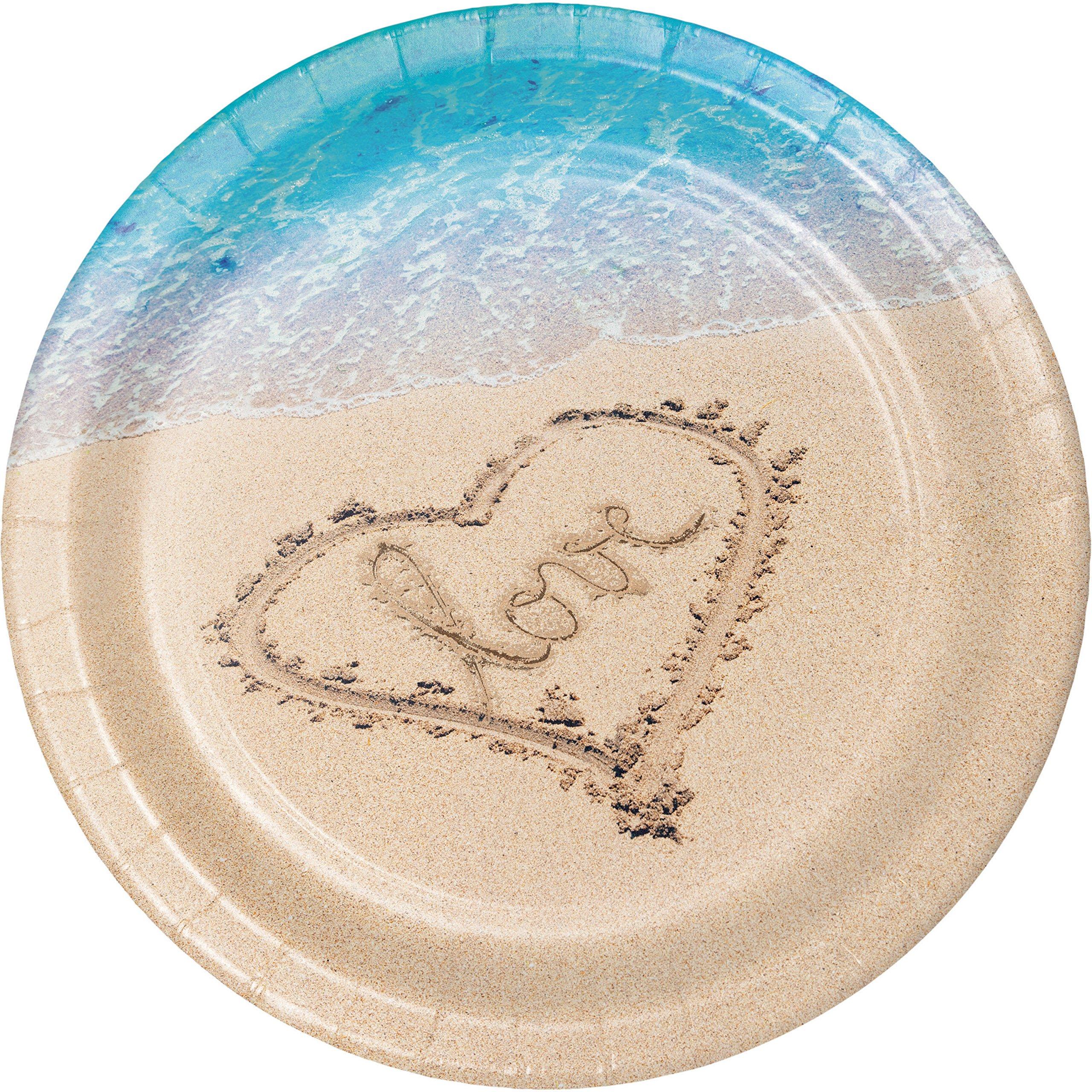 Beach Love Banquet Plates, 24 ct