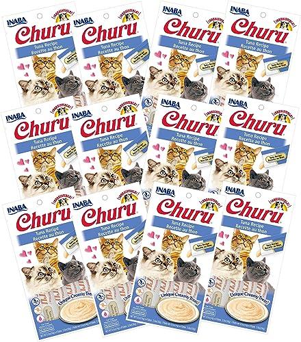 INABA Churu Tuna Recipe Lickable Creamy Pur e Cat Treats 48 Tubes