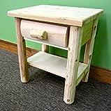 Midwest Log Furniture - Premium Log Nightstand W/shelf
