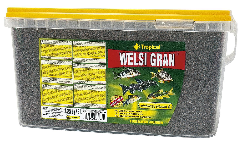 TROPICAL Welsi Gran Granules for Floor, Ornamental Fish Food, Pack of 1 x 5 L