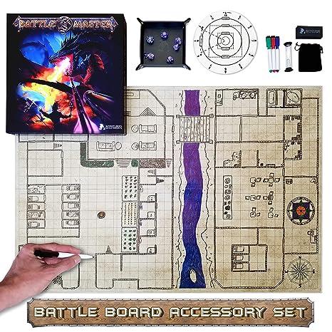 Amazoncom Dnd Battle Mat Set Battle Master Grid Game Mat Set 36