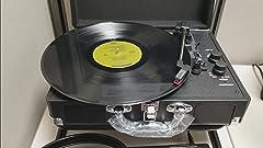 Amazon.com: Victrola Vintage 3-Speed Bluetooth maleta ...
