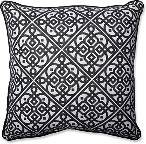 Pillow Perfect Lace it Up Ebony Throw Pillow, 18