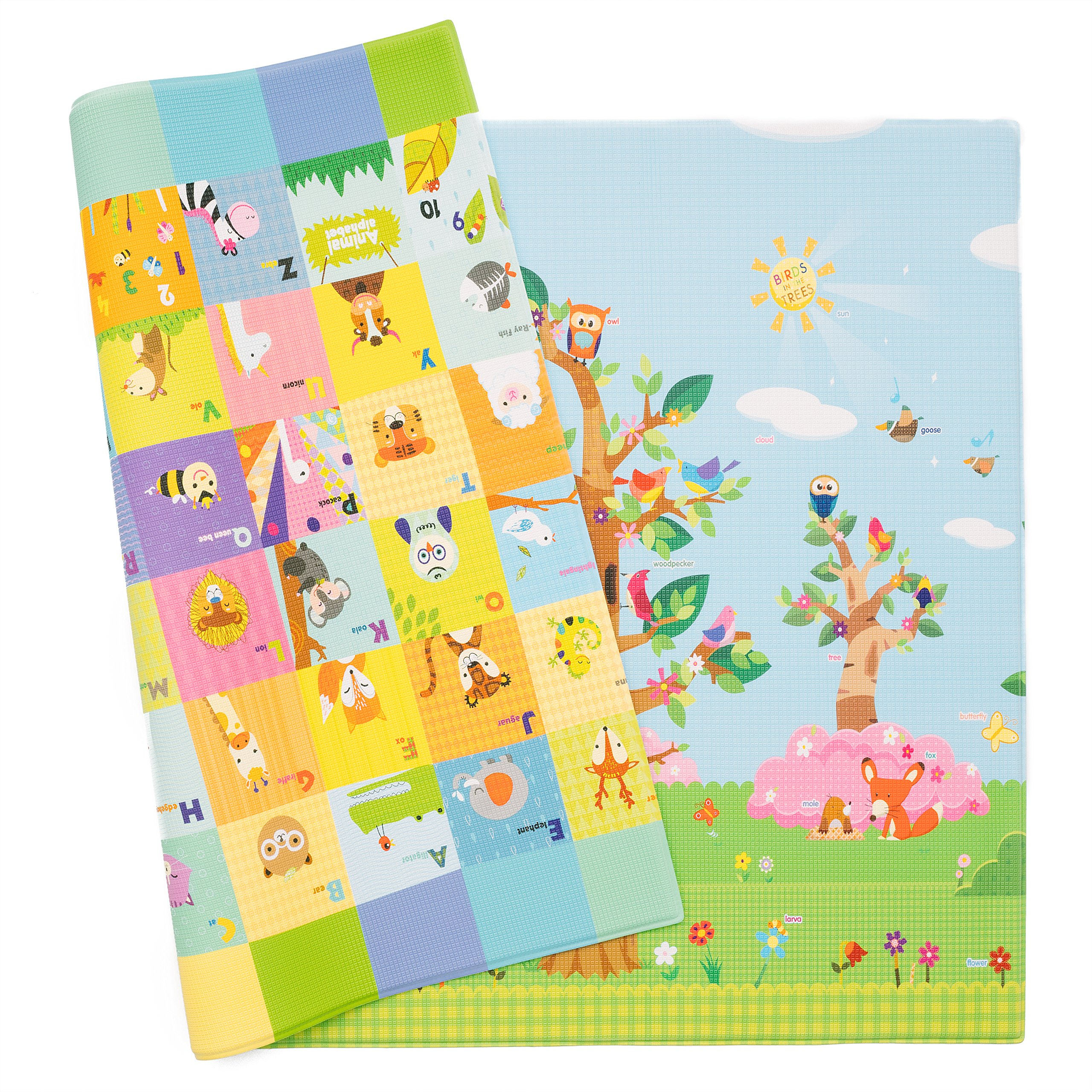 Baby Care Play Mat Birds On The Trees Large Ebay