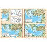 Paul's Journeys and Voyage to Rome - Bible Christian Wall Poster 36x24 Paper