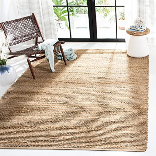 Safavieh Cape Cod Collection CAP355A Hand Woven Flatweave Natural Jute Area Rug 3 x 5