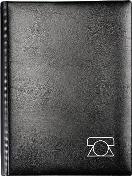 Brunnen - Agenda telefónica (tapa de espuma, 180 x 235 mm), color negro