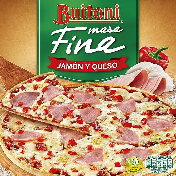 Buitoni Pizza masa fina jamón y queso - Pizza Congelada jamón y queso - 320 g: Amazon.es: Alimentación y bebidas