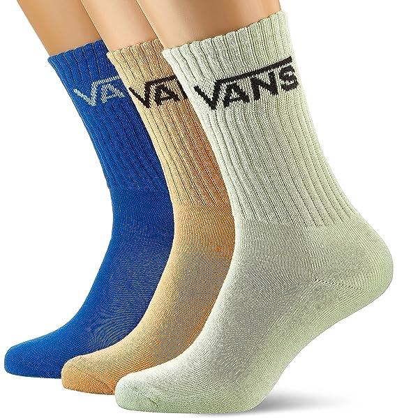 Vans_Apparel Classic Crew (6.5-9, 3pk), Calcetines para Hombre, Multicolor