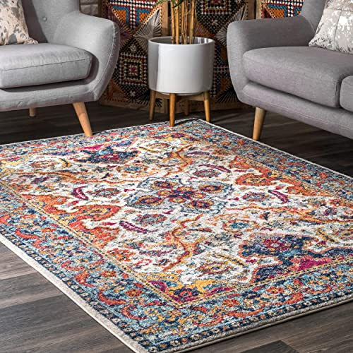 nuLOOM Oasis Collection Area Rug, 8 x 10 , Ivory