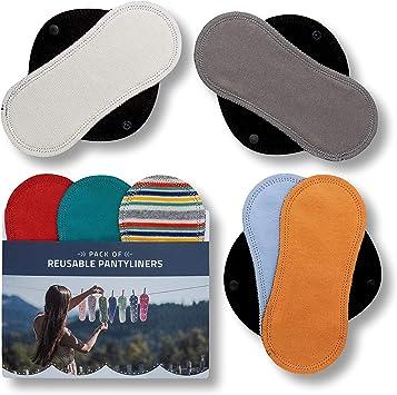 Salvaslips de tela reutilizables, 7-Pack Protege Slips de algodón ...