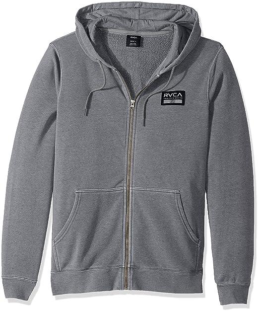 65e982dc2 Amazon.com: RVCA Men's Hat Patch Zip Hoodie: Clothing