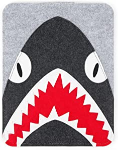 "DURAGADGET Protective Felt Laptop Sleeve (Grey, Shark Design) - Compatible with Samsung Galaxy Chromebook & Samsung Galaxy Book Flex a (Alpha) 13"""