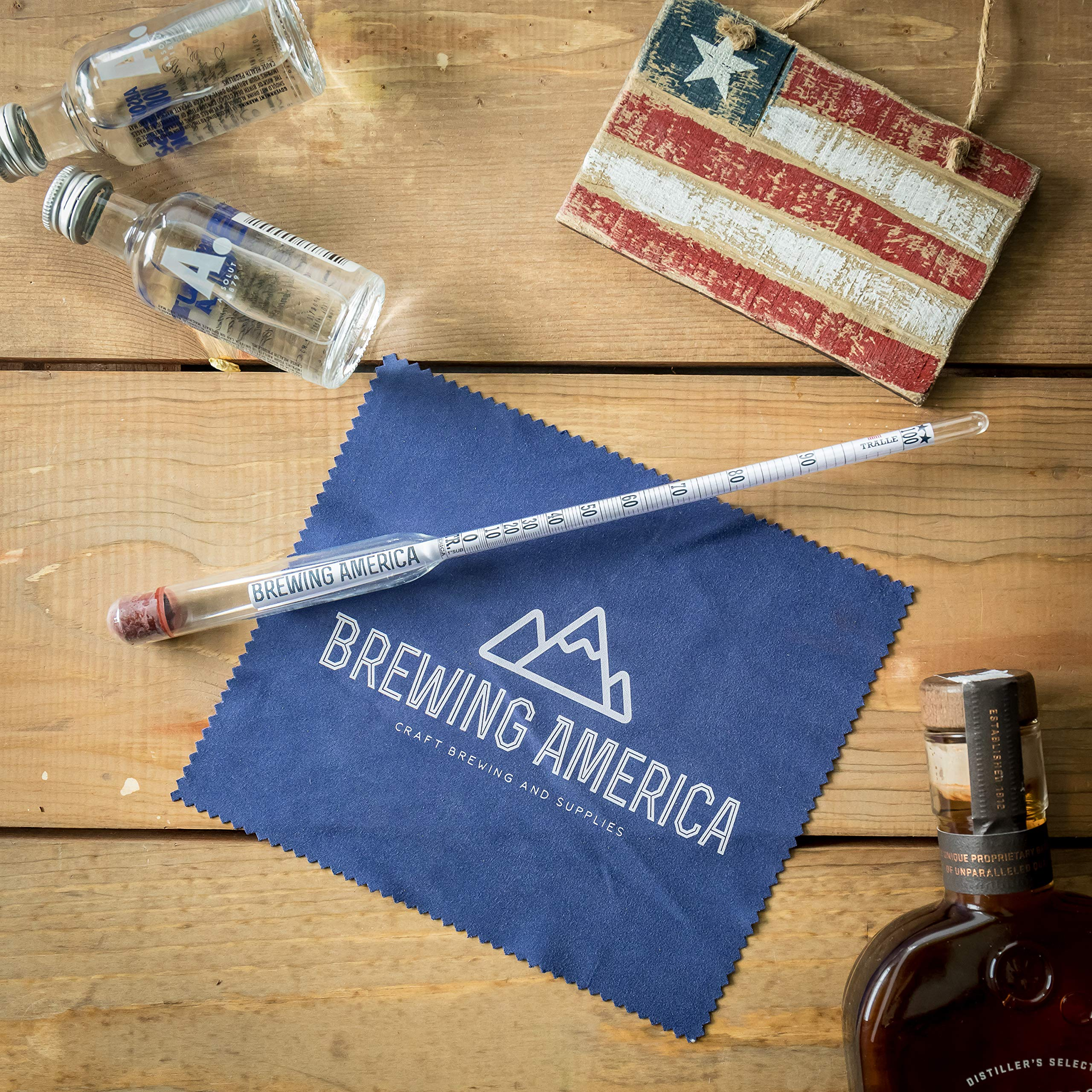 American-Made Alcohol Hydrometer Tester 0-200 Proof & Tralle Pro Series Traceable - Distilling Moonshine Alcoholmeter by Brewing America (Image #7)