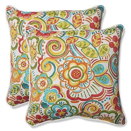 Amazon Com Pillow Perfect Outdoor Bronwood Carnival Throw Pillow