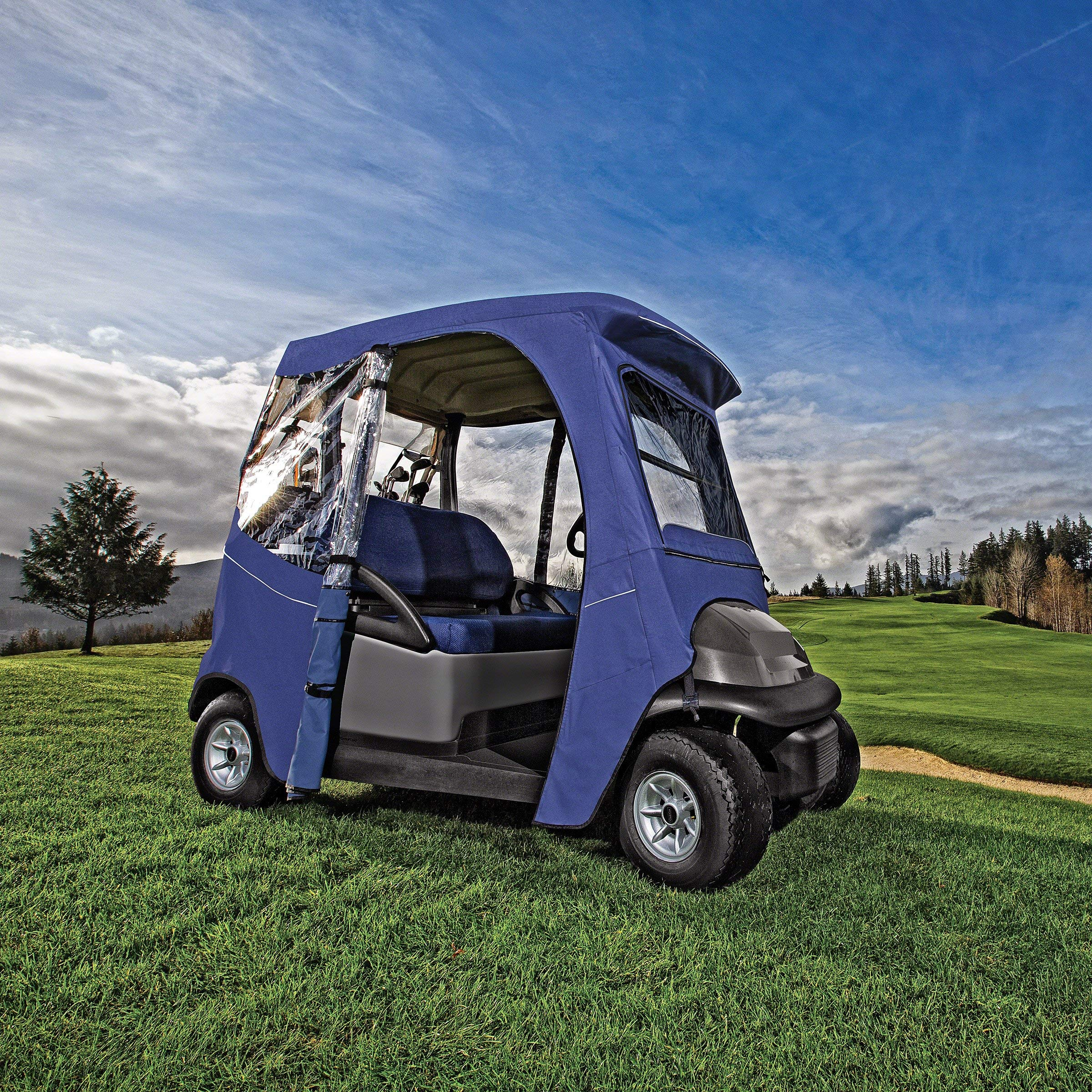 Classic Accessories Fairway Golf Cart Deluxe Enclosure, Black, Short Roof by Classic Accessories (Image #13)
