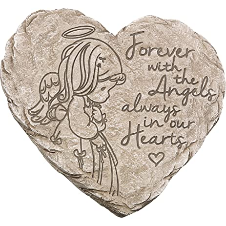 Garden Gifts By Precious Moments 171459 Forever With The Angels, Always In  Our Hearts Decorative