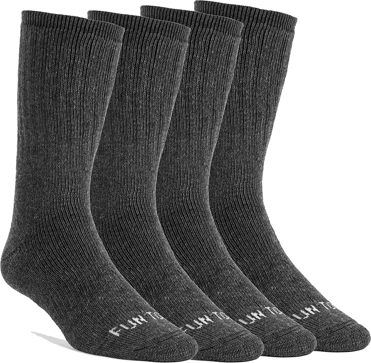 Hiking Size 8-12 FUN TOES 3 Pairs Thermal Insulated 80/% Merino Wool Socks Mens