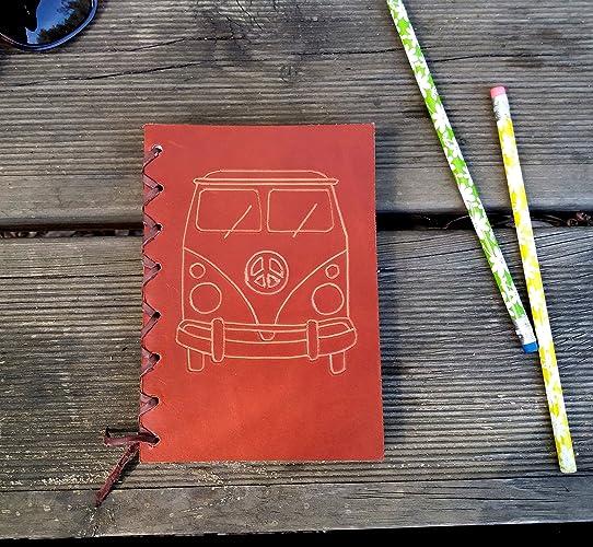 Agenda cuero furgoneta, agenda vintage, agenda cuero ...