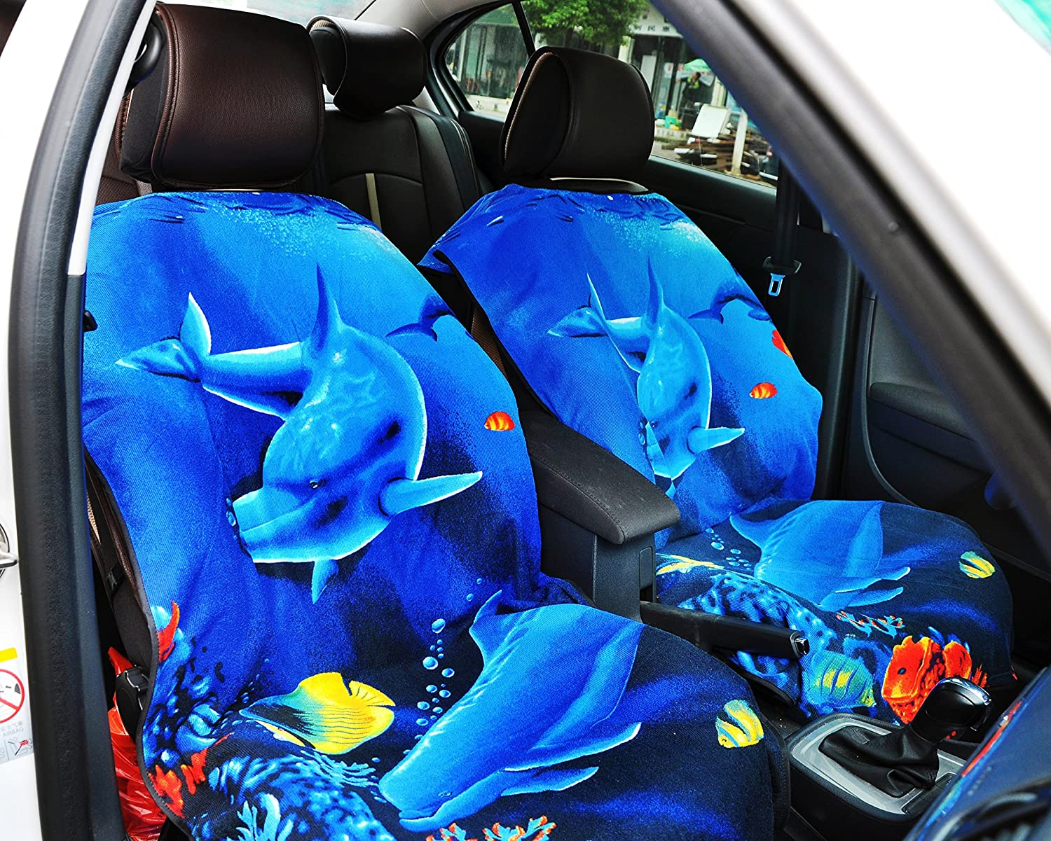 Y 40 THIEVES Removable Sweat Towel Protect Front Bucket Seat Free for Cars Truck SUV After Gym Biking Aqua Blue Swimming Runs Yoga Surfing /& Beach Trips