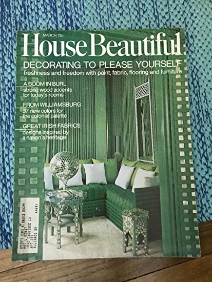 house beautiful magazine march 1970 decorating to please yourself