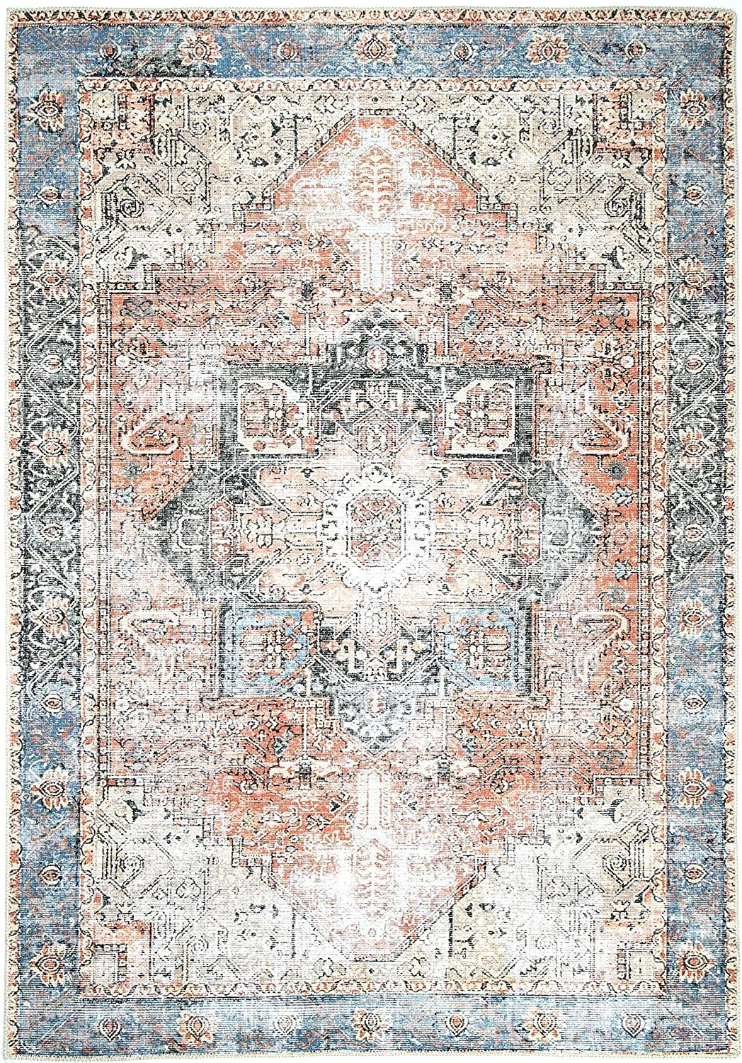 The Rug Collective Distressed Vintage Cezanne Terracotta Sky Area Rug Perfect For Living Rooms Bedrooms Dining Rooms Easy To Clean Durable Stylish And More Kitchen Dining
