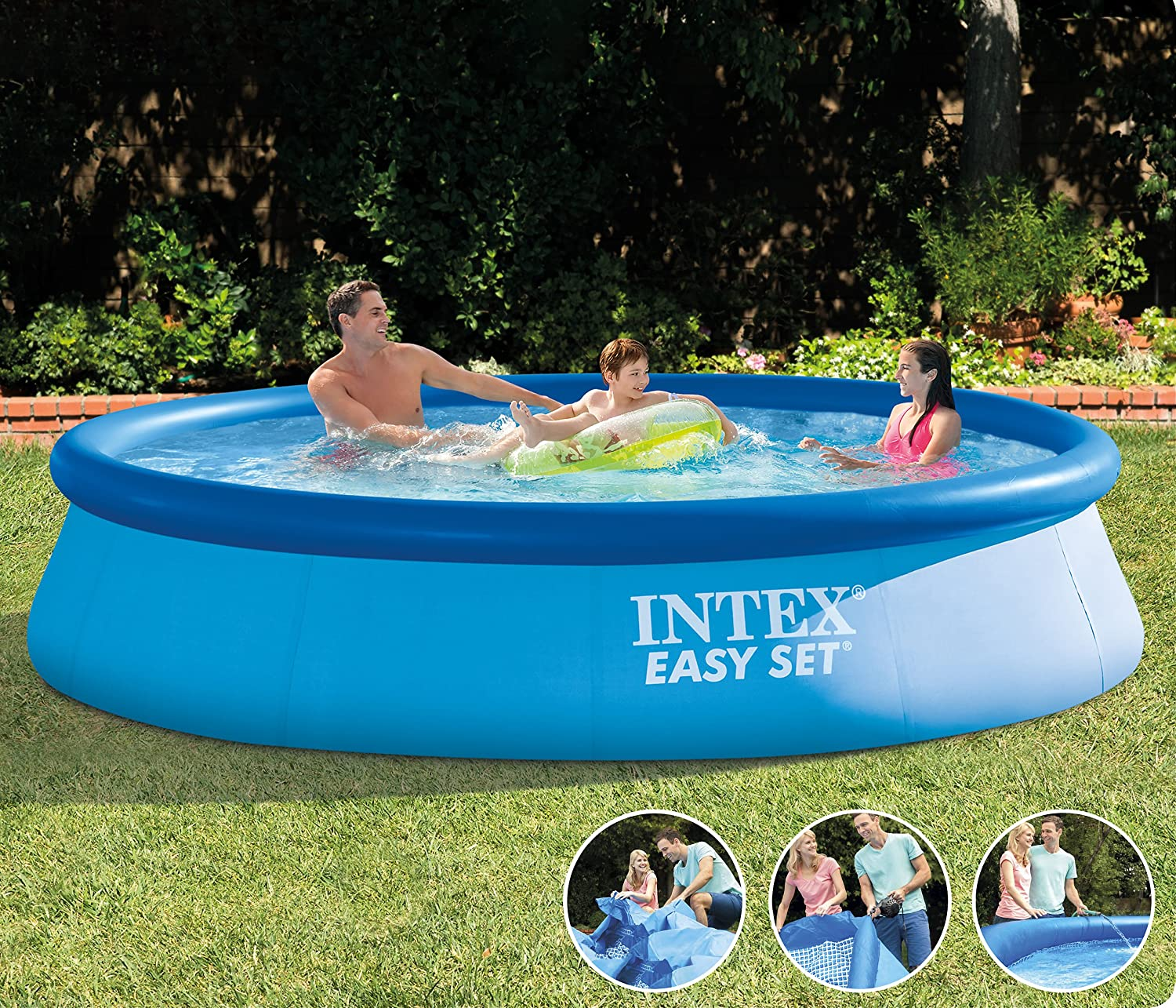 Charming Intex 28130NP Easy Set Pool Ohne Filterpumpe, 366 X 76 Cm: Amazon.de: Garten