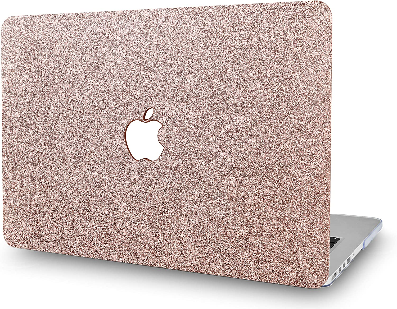 "KECC Laptop Case for MacBook Pro 15"" (2019/2018/2017/2016) Plastic Hard Shell Cover A1707/A1990 (Rose Gold Sparkling)"