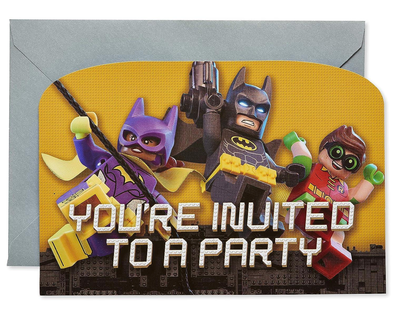 Amazon Com American Greetings Lego Batman Party Supplies Invite