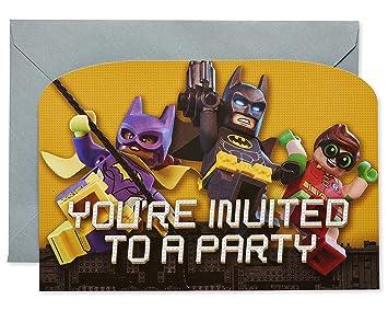 Lego Batman Película Invitaciones De Fiesta 8pk Amazones