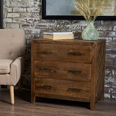 Charmant Saffy Traditional Light Brown Finished Mango Wood Cabinet