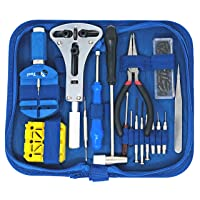 Watch Repair Kit with 16 Tools and 40-Page Instruction Guide