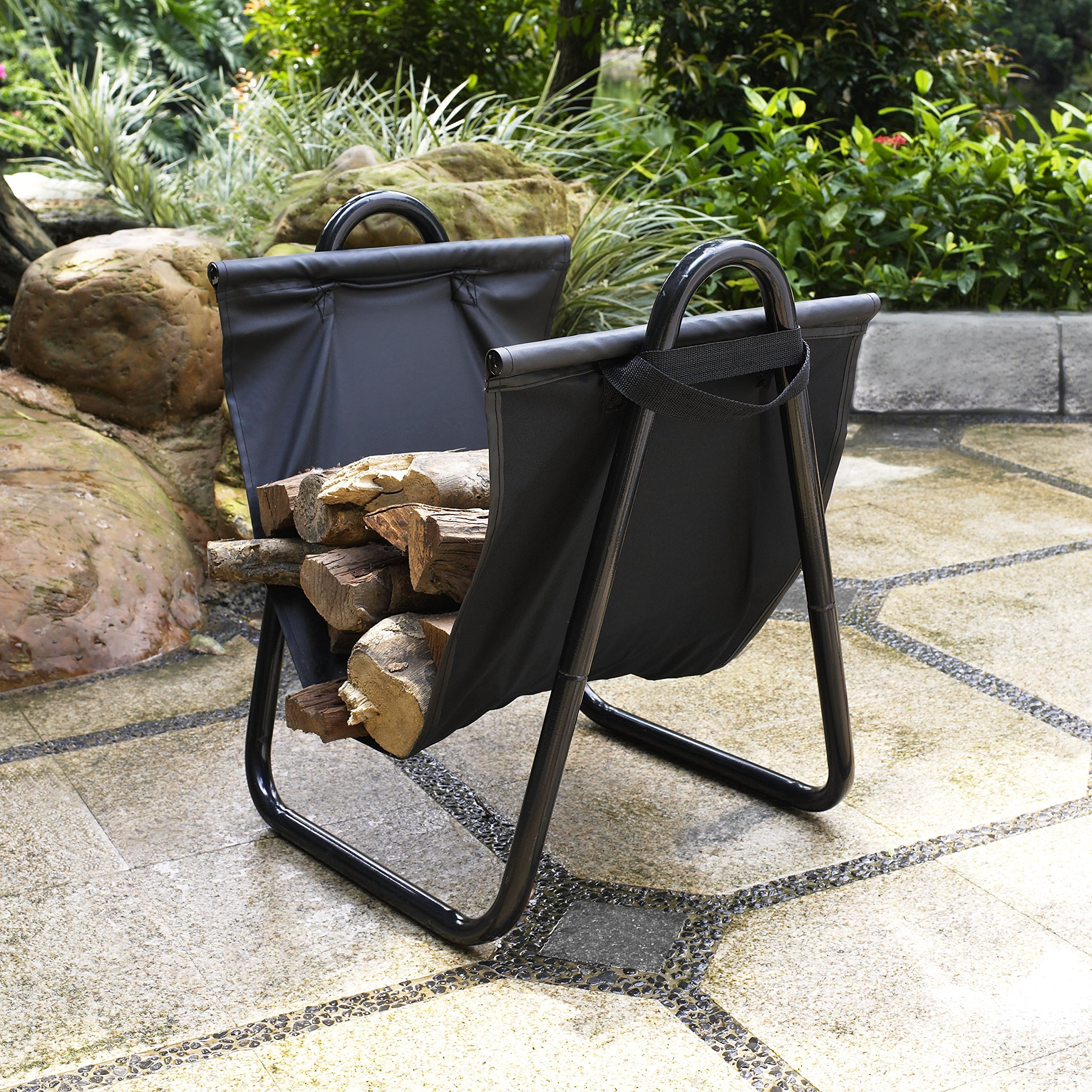 Crosley Furniture Logan Firewood Storage Rack and Carrier - Black by Crosley Furniture (Image #4)