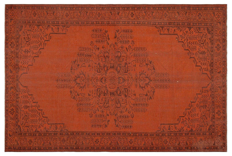 Bespoky ビンテージ 手織 ラグ オレンジ 大きいサイズ 183 X 270 Cm   B07HNBVMBT