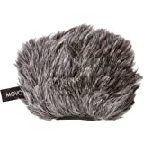 "Movo WS-G9 Furry Outdoor Microphone Windscreen Muff for Portable Digital Recorders up to 3"" X 1.5"" (W x D) - Fits the Zoom H4n, H4n PRO, H5, H6, Tascam DR-40, DR-05, DR-07 and More (Dark Gray)"