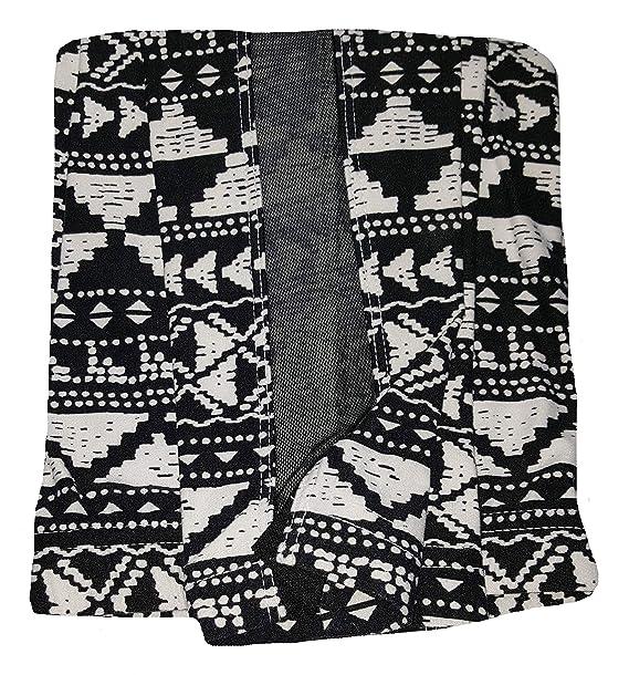 d02458fdbd6b85 No Boundaries Tribal Print Black & White Print Super Soft Ankle Legging  with Mesh Insert -