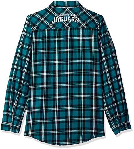 5f0a95a8 Jacksonville Jaguars 2016 Wordmark Basic Flannel Shirt - Womens Extra Large