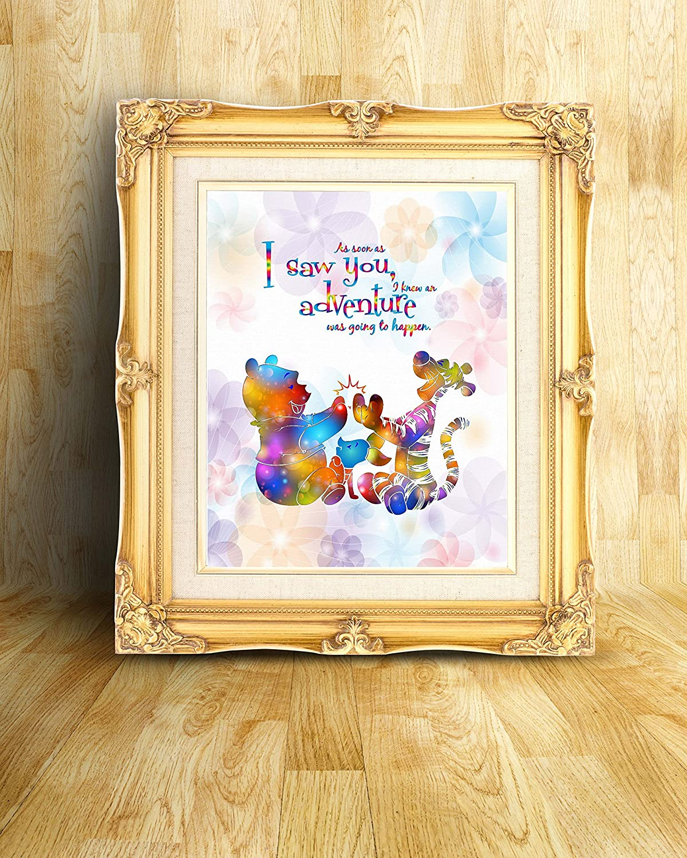 Amazon.com: Uhomate Nursery Decor Winnie The Pooh Quotes Winnie Pooh ...