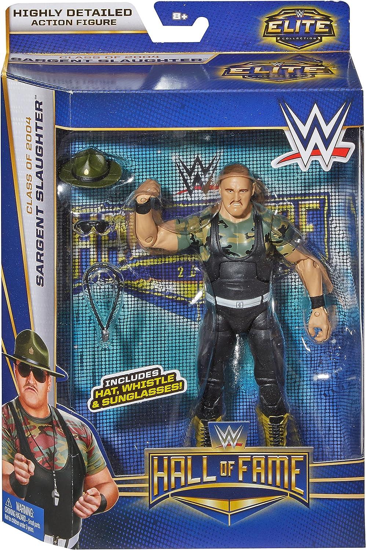 WWE Wrestling Elite Collection Hall of Fame Sargent Slaughter 6 Action Figure Mattel Toys