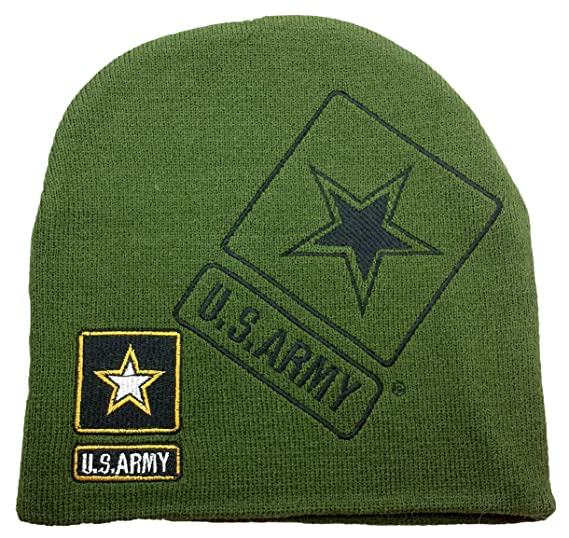 36cacfac136 U.S. Army Embroidered Knit Beanie Skull Cap Stocking Hat Officially Licensed