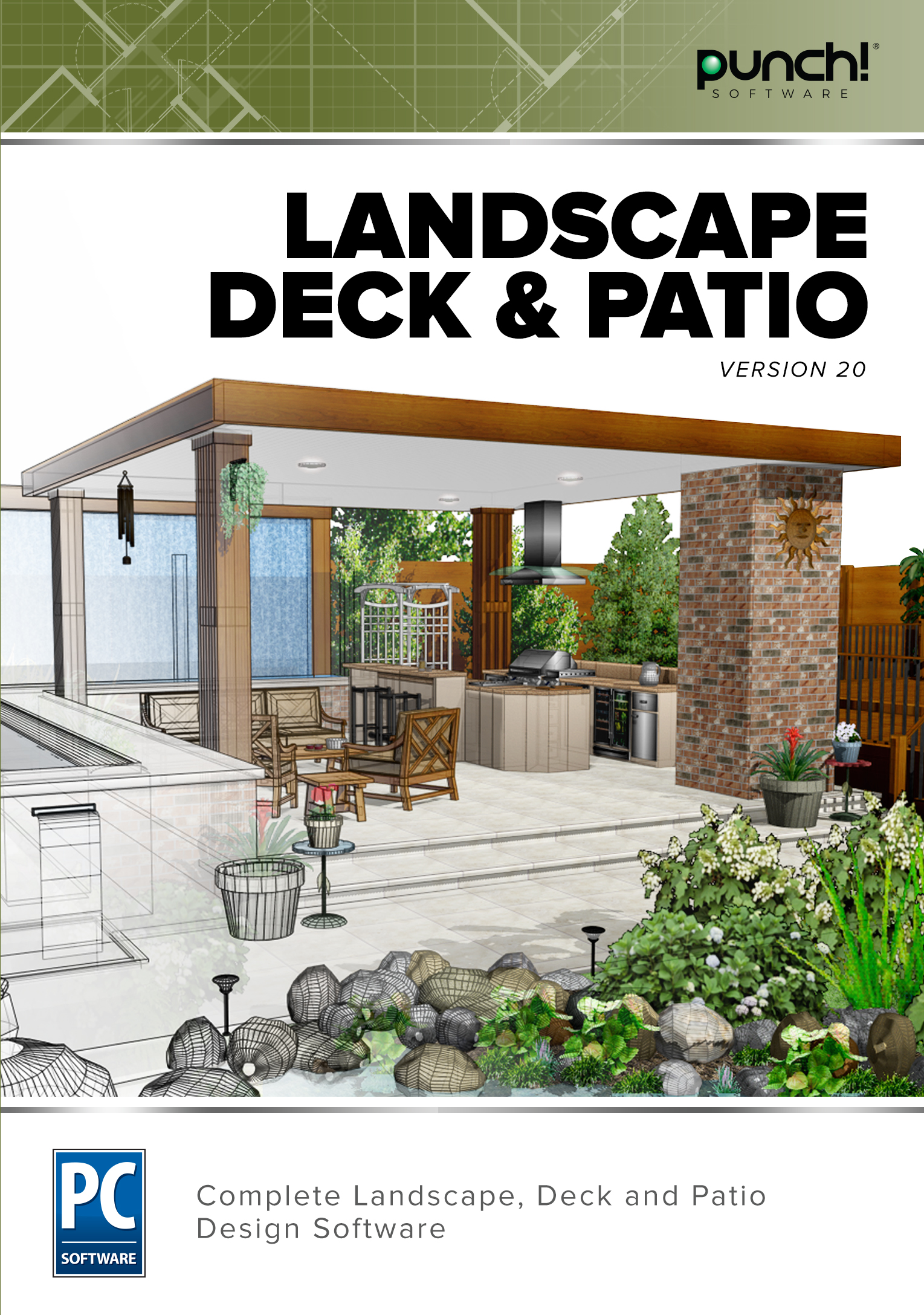 Punch! Landscape, Deck & Patio v20 [Download] by Encore