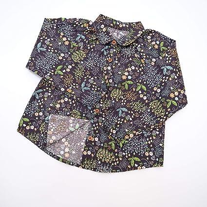 Aimama - Ropa para bebé y niña, Blusa de Manga Larga con Estampado de Flores para niños de 12 a 6 años - Verde - 90 cm/18-24 Meses: Amazon.es: Ropa y accesorios