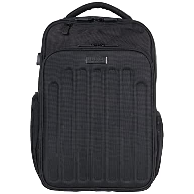 "Kenneth Cole Reaction 1680d Polyester Dual Compartment 15.6"" Laptop Backpack with USB Port (RFID"