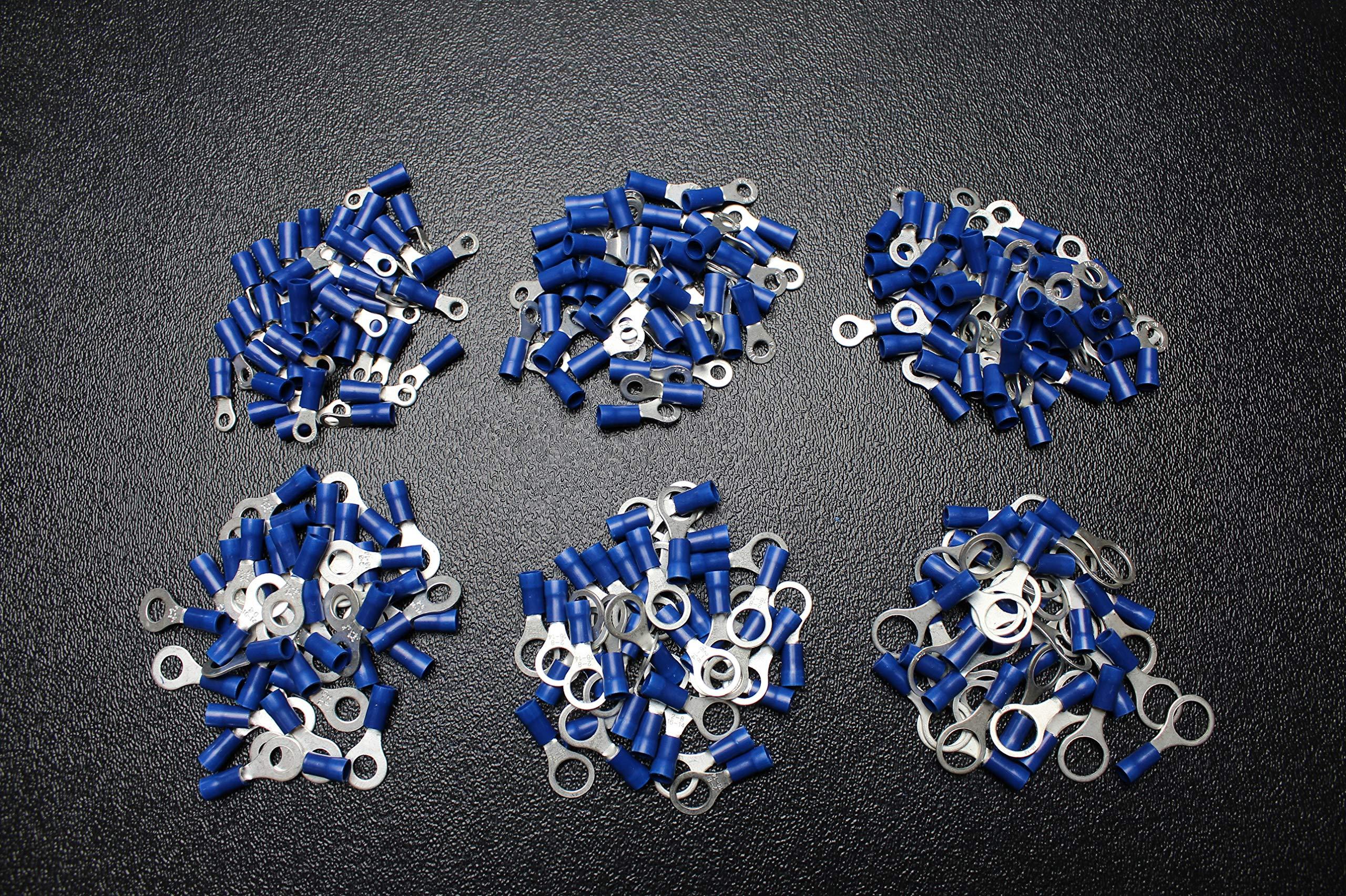1200 PK 14-16 Gauge Vinyl Ring CONNECTORS 200 PCS Each #6#8#10 1/4 5/16 3/8