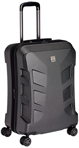 Swiss Military Polycarbonate 95 liters Black Hard Shell Trolley ...