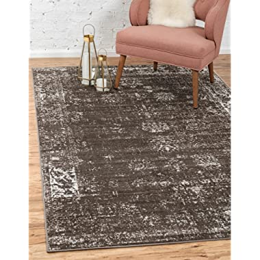 Unique Loom Sofia Collection Traditional Vintage Brown Area Rug (9' x 12')