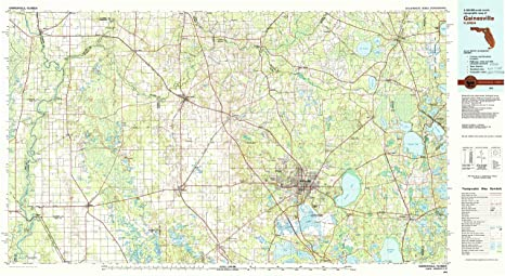 Amazon Com Yellowmaps Gainesville Fl Topo Map 1 100000 Scale 30
